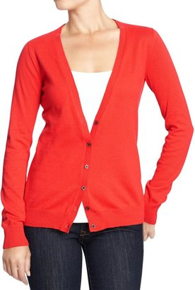 Old Navy Women's Button-Front V-Neck Cardis