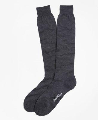 Brooks Brothers Merino Wool Mini Dot Over-the-Calf Socks