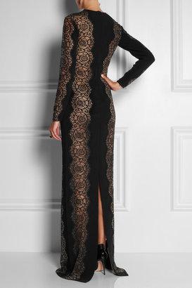 Stella McCartney Florence lace-paneled stretch-crepe dress