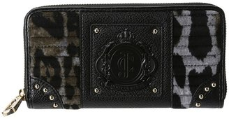 Juicy Couture Animal Velour Zip Wallet (Grey) - Bags and Luggage