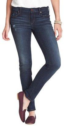 LOFT Modern Skinny Jeans in Distressed Blue Wash