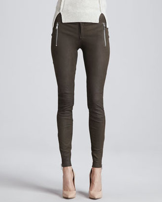 Rebecca Taylor Leather Motorcycle Pants
