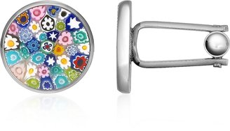Forzieri Millefiori Murano Glass Silver Plated Cuff links