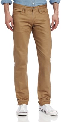 Naked & Famous Denim Men's WeirdGuy Low Rise Tapered Leg Chino In Beige Selvedge