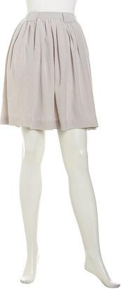 Cacharel Pleated A-Line Skirt, Light Gray