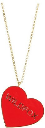 Wildfox Couture Heart Necklace (Red) - Jewelry