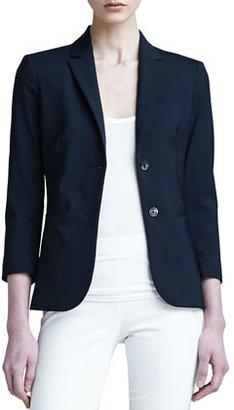 The Row 3/4-Sleeve Schoolboy Jacket, Navy