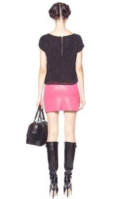 Alice + Olivia Brigitta Leather Mini Skirt