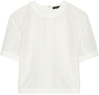 Alexander Wang Embroidered organza top