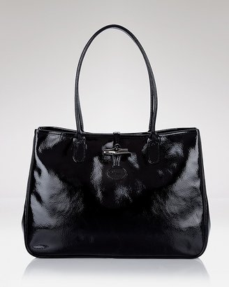 Longchamp Roseau Patent East West Tote