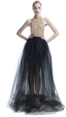 Jason Wu Tulle Skirt Beaded Halter Gown