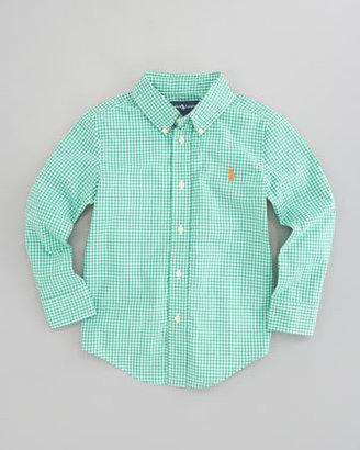 Ralph Lauren Blake Long Sleeve Gingham Shirt, Green