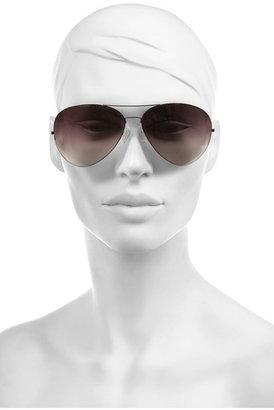 Victoria Beckham Feather aviator metal sunglasses