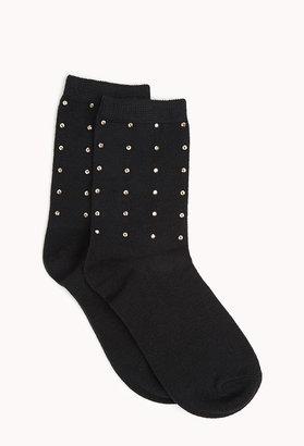 Forever 21 shine bright crew socks