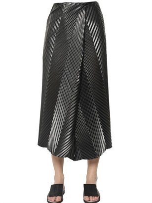 J.W.Anderson Chevron Wrapped Faux Leather Long Skirt