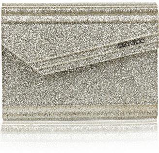 Jimmy Choo Candy Glitter Acrylic Clutch - Silver