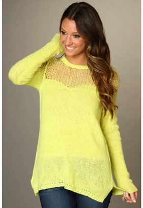 Free People Cozy Ginger Pullover (Neon Lime) - Apparel