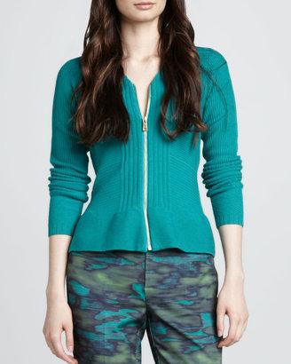 Nanette Lepore Halo Knit Zip Cardigan