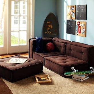 PBteen Cushy Lounge Sectional Set + Base