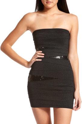 Charlotte Russe Sequin-Inset Bandage Dress