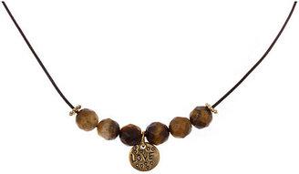 Blu Bijoux Tigereye Beaded Charm Necklace