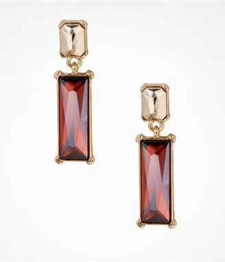 Express Colored Baguette Post Drop Earrings