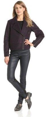 Derek Lam 10 Crosby Women's Wool Engineered Moto Jacket