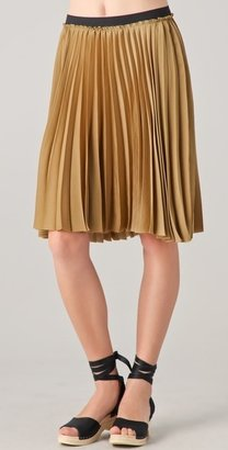 Enza Costa Pleated Skirt