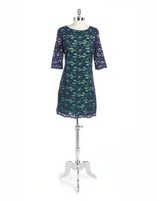 Jax Elbow-Sleeved Lace Dress