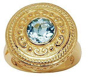 JCPenney ONLINE ONLY - 14K Gold-Plated Heat-Treated Sky Blue Topaz Ring
