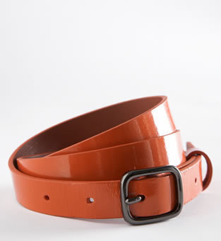 Martin + Osa The Osa Skinny Patent-Leather Belt