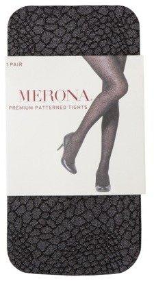 Merona Premium® Women's Sheer Patterned Skin Tights - Black