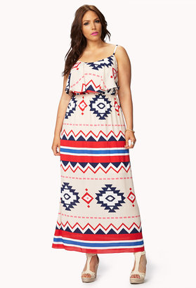 Forever 21 FOREVER 21+ Out West Maxi Dress