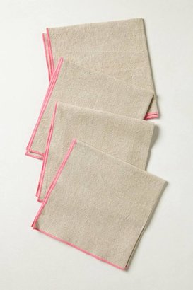 Anthropologie Neon Border Napkin Set