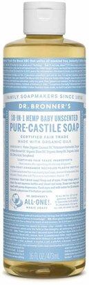 Dr. Bronner's Baby Unscented Castile Liquid Soap by 16floz Liquid Soap)