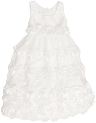 Bonnie Jean Kids Dress, Little Girls Satin Rosette Flower Girl Dress