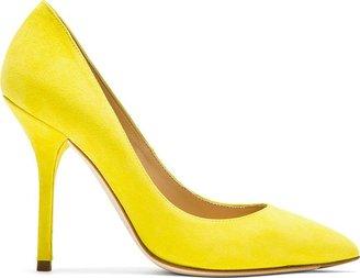Dolce & Gabbana Lemon Goat Suede Citrus Pump