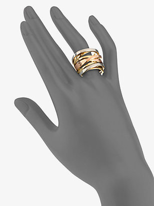Michael Kors Tri-Tone Twisted Ring