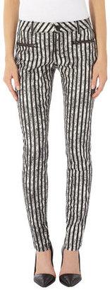 Dorothy Perkins Black and white stripe skinny jean