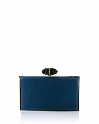 Judith Leiber Couture Satin Coffered Rectangle Clutch Bag, Dark Indigo $2,195 thestylecure.com