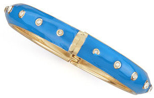 Sequin Basic Crystal-Dot Bangle, Cobalt