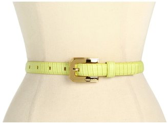Vince Camuto 3/4 Buckle On Lizard Panel (Lime) - Apparel