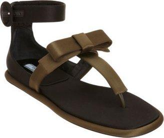 Prada Bow T-Strap Thong Sandal