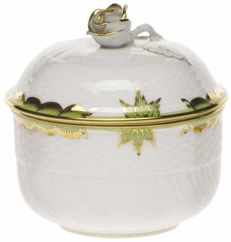 Herend Princess Victoria Green Covered Sugar Bowl