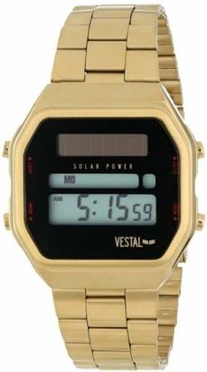 Vestal Unisex SYNDM03 Syncratic Solar Power Gold Brushed Watch