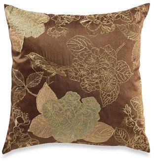 Tula Mocha/Green Toss Pillow