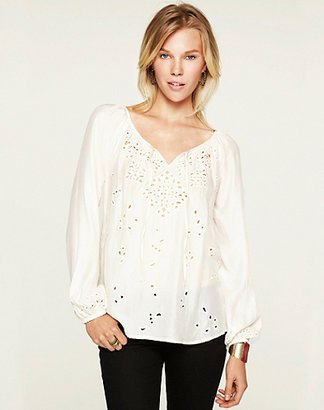 Lucky Brand Rhiannon Cutout Peasant Top*