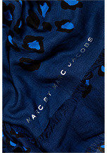 Marc by Marc Jacobs Leopard Print Scarf in Azure Blue Multi