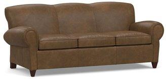 Pottery Barn Manhattan Leather Sleeper Sofa