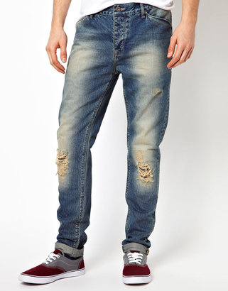 Asos Slim Jean With Rips And Authentic Wash